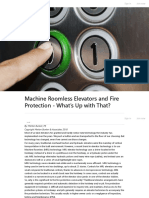 Machine Roomless Elevators and Fire Protection - What's Up With That