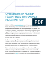 Cyber Attack on Nuclear Plants
