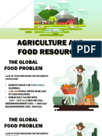 People and Earth's Ecosystem (Agriculture and Food Production)