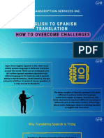 English to Spanish Translation How to Overcome Challenges