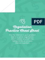 Negotiation Practice Cheat Sheet