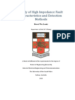 Study of High Impedance Fault Characteristics