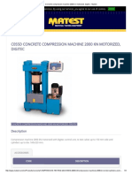 Concrete Compression Machine 2000 Kn Motorized, Digitec - Matest