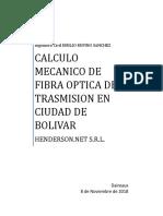 Calculo Mecanico de Fibra Optica de Trasmision en Ciudad de Bolivar