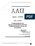 Comparison of Road Construction by Foreign and Local Contrac