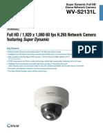 WV-S2131L Spec Sheet Panasonic