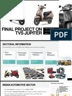 A Report on T.V.S. motors and T.V.S. Jupiter