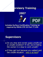 training issue
