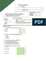 Evaluación Decimales Cuarto