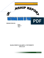 National Bank Internship Report