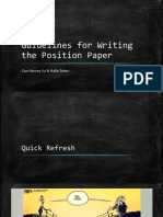 Guidelines for Writing the Position Paper