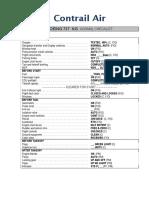 Contrail Air Checklist