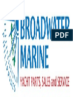 Logo for broad water marine