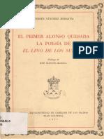 El primer Alonso Quesada, de Andrés Sánchez Robayna