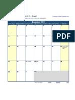 Calendario Dezembro 2019