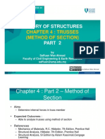 Chapter 4 Part 2 – Truss Method of Sections
