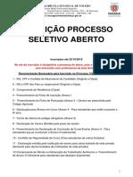 Documentação Para Processo de Pre Seleção