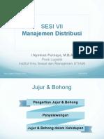 Sesi VII - Manajemen Distribusi
