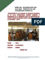 INFORME DE  ESTIMACIÓN DE RIESGO DEL  PROYECTO DE INVERSION PÚBLICA.docx