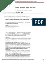 Penal - Modelo de Defesa Preliminar ART. 514 - Direitos Humanos - DomTotal