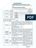 Advertisement for the post of Multi-Tasking Staff, Technician (Electrician, Plumber, Bamboo worker) and Technical Assistant ( Botany, Zoology, Chemistry, Agriculture, Forestry)