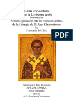 Histoire Version Arabe Liturgie Chrysostome