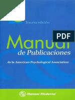 APA Español Manual de Publicaiones de La APA en Espanol