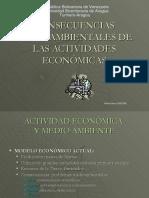 Consecuencias Medioambientales de Las Actividades Econmicas