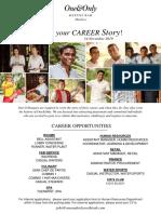 We Create Joy - Career Poster - 14 Nov 2019