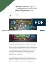 Sobre Marketing de Afiliados o Que e Exemplo e Como Ganhar Dinheiro Sendo Afiliado Online de Algum Sistema Na Internet