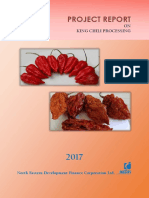Project report on King Chilli Processing unit
