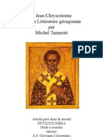 Chrysostome et Litterature Georgienne