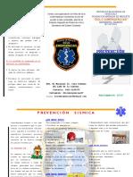Triptico Prevención Sísmica Escolar 2019-2020