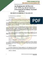 DECRETO LEGISLATIVO N° 1149, LEY DE LA CARRERA Y SITUACION DEL PERSONAL DE LA POLICIA NACIONAL DEL PERU