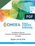 Codhes Informa 94. Boletín Situación Humanitaria 2018