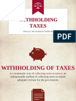 Group 11 - Withholding Tax