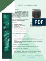 Ficha Tecnica - Mallas Electrosoldadas