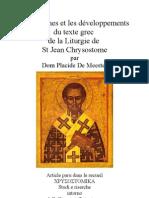 Histoire Version Grecque Liturgie Chrysostome