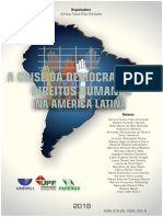 E-book 2018 a Crise Da Democracia e Os Direitos Humanos Na América Latina