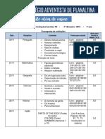 Cronograma de avaliações  P2 - 1º Ano vespertino - 4º Bim. .pdf