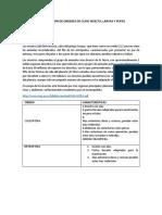 Informe Identificación de Ordenes de Clase Insecta