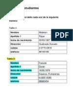 Datos de Estudiantes Mercedes