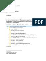Modelo de Carta de entrega del Plan de Emergencia