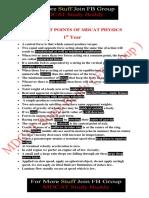 MDCAT-Physics -Key Points.pdf