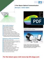 Free Space Optical Communication Tip-Tilt-Mirror Brochure