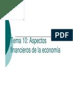 Tema 10_ Aspectos Financieros de La Economía