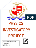 investigatory project of physics