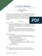 Sample Assignment Checklist