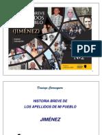 02 Historia Breve Apellidos de Mi Pueblo Nº 2 Jimenez