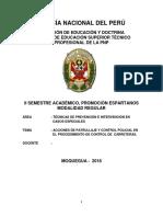 MONOGRAFIA - ACCIONES DE PATRULLAJE Y CONTROL POLICIAL EN EL PROCEDIMIENTO DE CONTROL DE  CARRETE.doc